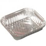 250 gr. Alüminyum Kap Aliminium Food Containers 146x121x25 / 310 cc - 2100 Ad./Pcs