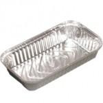 500 gr. Alüminyum Kap Aliminium Food Containers 204x112x33 / 500 cc - 1800 Ad./Pcs