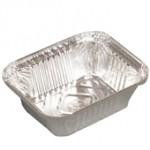 350 gr. Alüminyum Kap Aliminium Food Containers 146x121x40 / 460 cc - 2100 Ad./Pcs